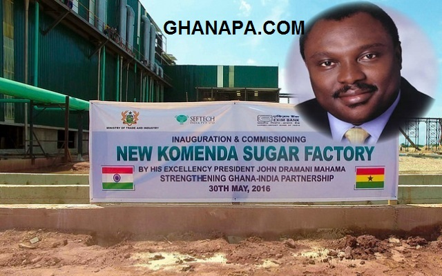 Robert Ahomka Lindsay (Deputy Trade Minister) on Komenda Sugar Factory