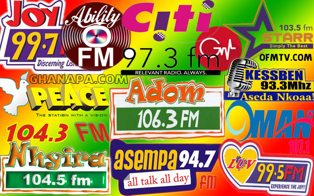 Top 17 Ghanaian Radio Stations Based On Twitter Followers With Likes Support from TuneIn and FaceBook