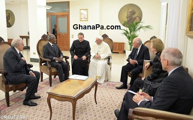 Pope Francis meets Kofi Annan, former UN Secretary General & Members of 'The Elders' [Audio]