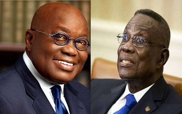 President Nana Addo Dankwa Akufo-Addo (Left) and Late President John Evans Atta Mills (Right)