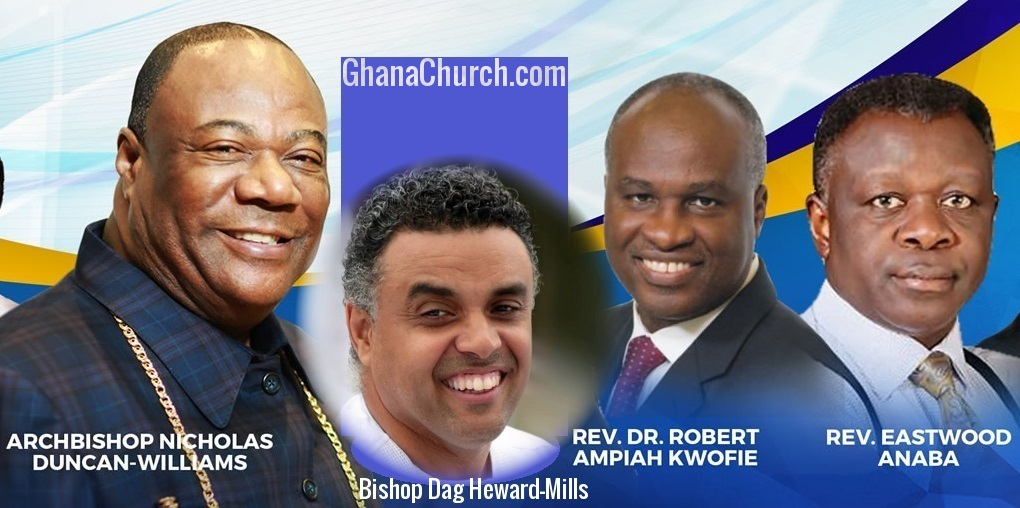 Bishop Dag, Rev. Eastwood Anaba & Dr. Ampiah-Kwofi are sons of Archbishop Duncan-Williams, Papa led Anaba to Christ [Watch Full Video]