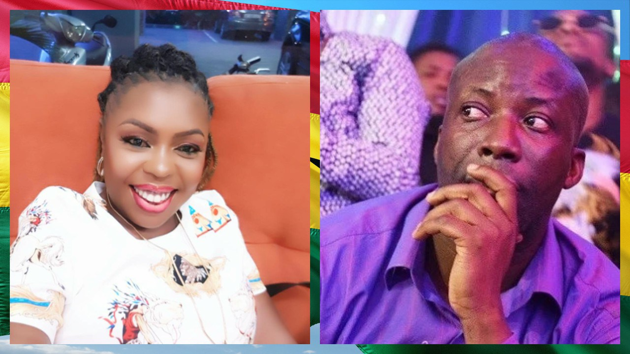 Rev. Nicholas Osei, aka Prophet Kumchacha (Right) And Afia Schwarzenegger (Left)