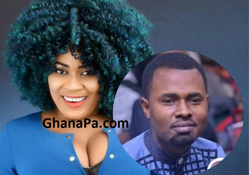 Furious Pregnant girlfriend Of Ernest Opoku, Kumawood Actress Nayas stormed Adom FM