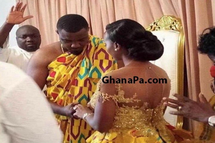 Furious Pregnant girlfriend Of Ernest Opoku, Kumawood Actress Nayas stormed Adom FM