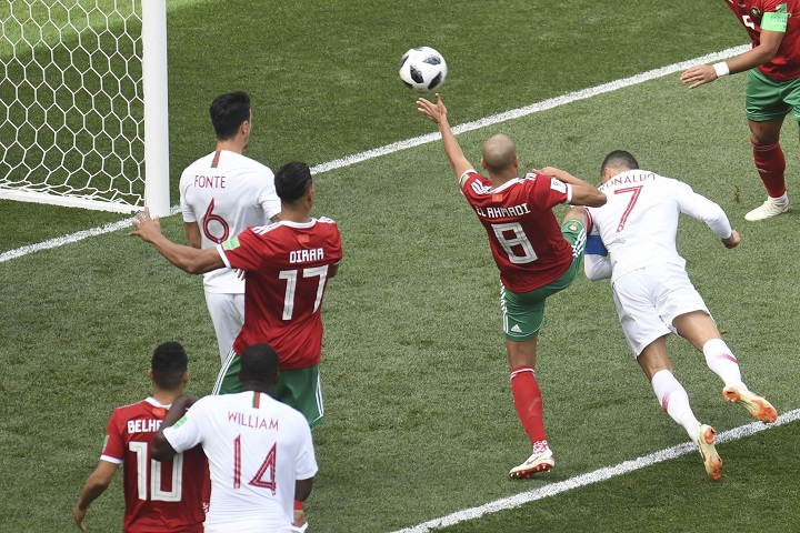 Cristiano Ronaldo goal, Portugal vs Morocco World Cup 2018: Real Madrid forward breaks record with header and send Morocco out of Russia FIFA World Cup.