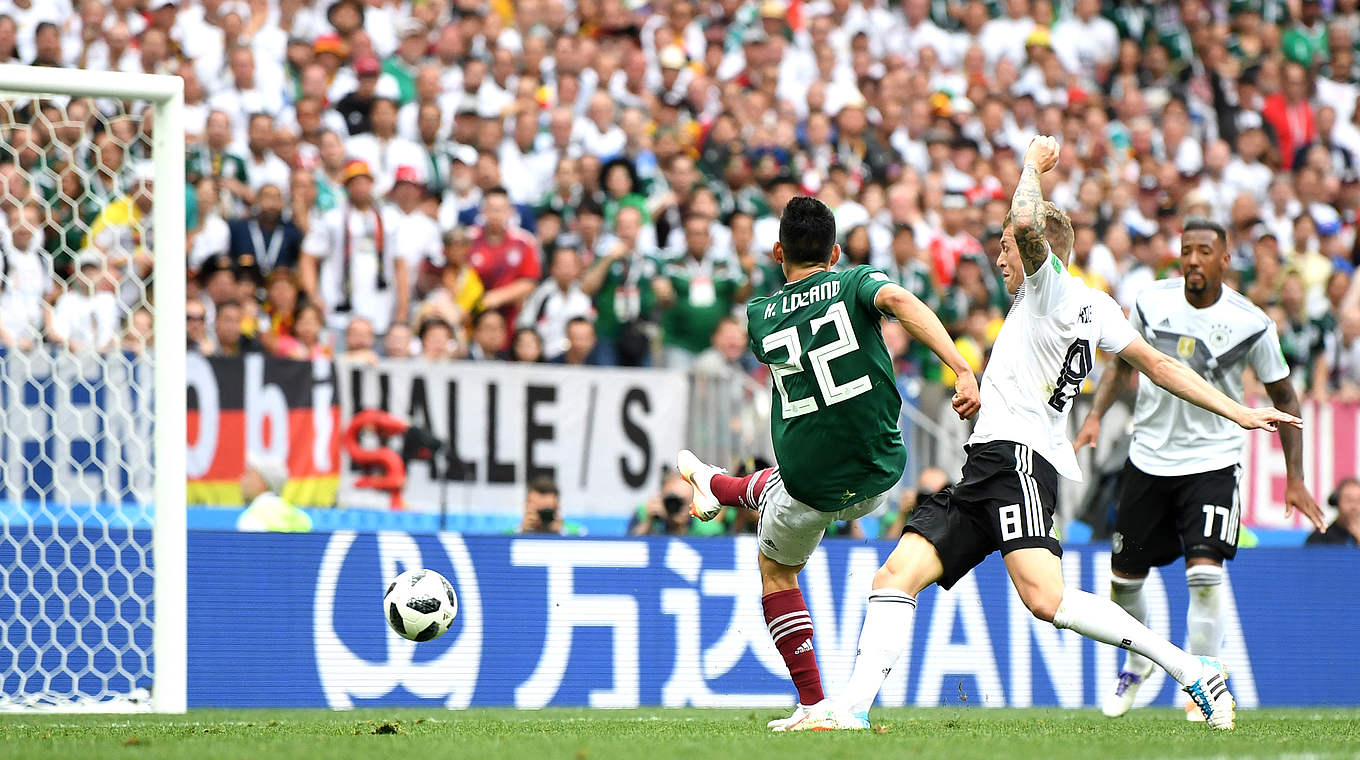 Germany vs Mexico [0:1]: Hirving Lozano's early goal stuns World Cup champs in huge upset.