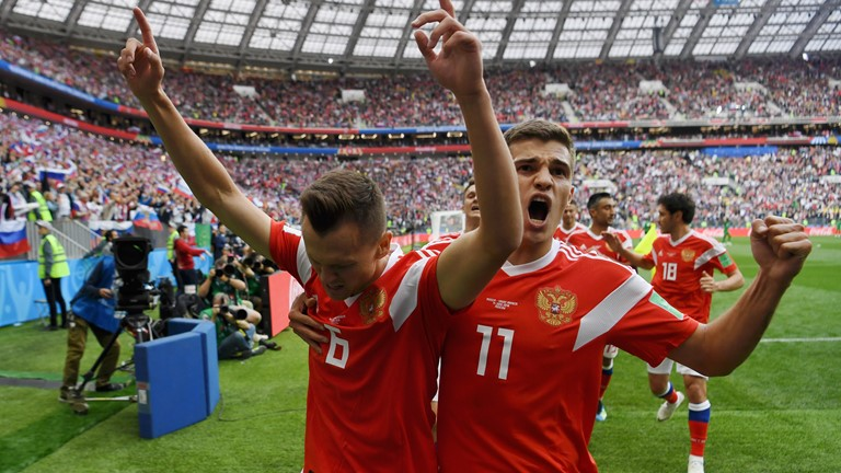 Russia thrashed Saudi Arabia 5-0, in FIFA World Cup 2018