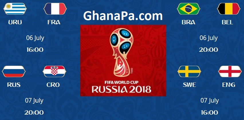 Quarter-Finals Matches & Results Of FIFA World Cup Russia 2018