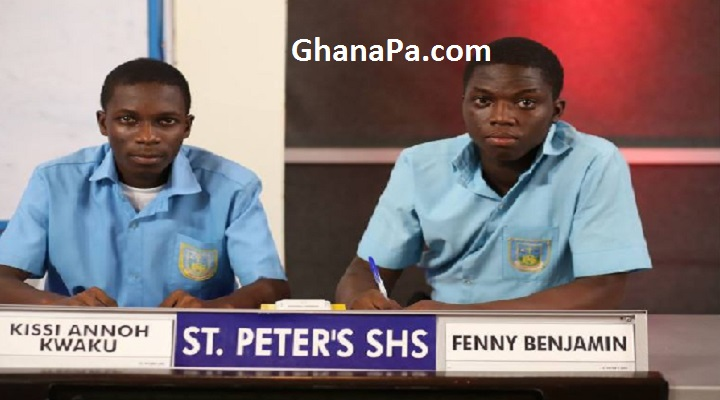 St Peter's SHS wins National Science and Maths Quiz