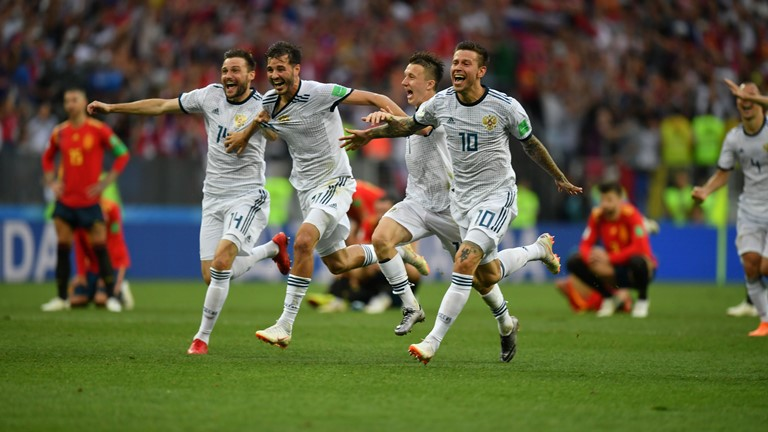 FIFA World Cup 2018: Russia defeat Spain 4-3 on penalties after match ends 1-1 after extra time