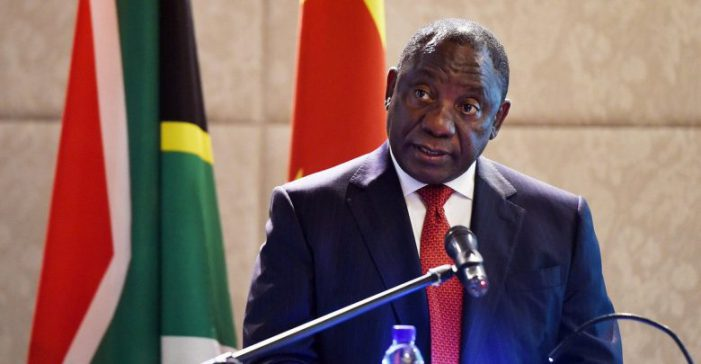 South African South African President Cyril Ramaphosa - Seizing Land from White Farmers,