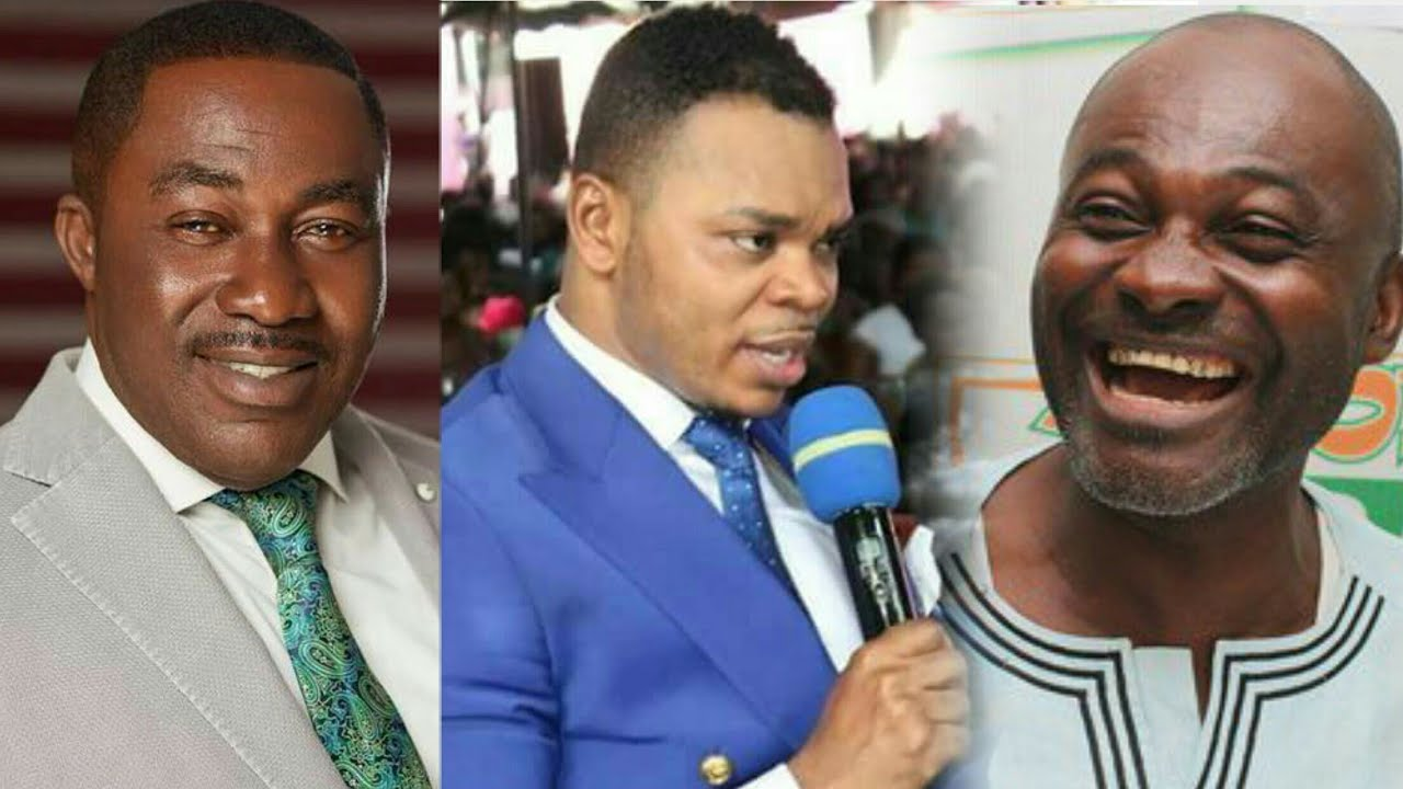 Dr. Osei Kwame Despite, Bishop Daniel Obinim and Hon. Ken Agyapong