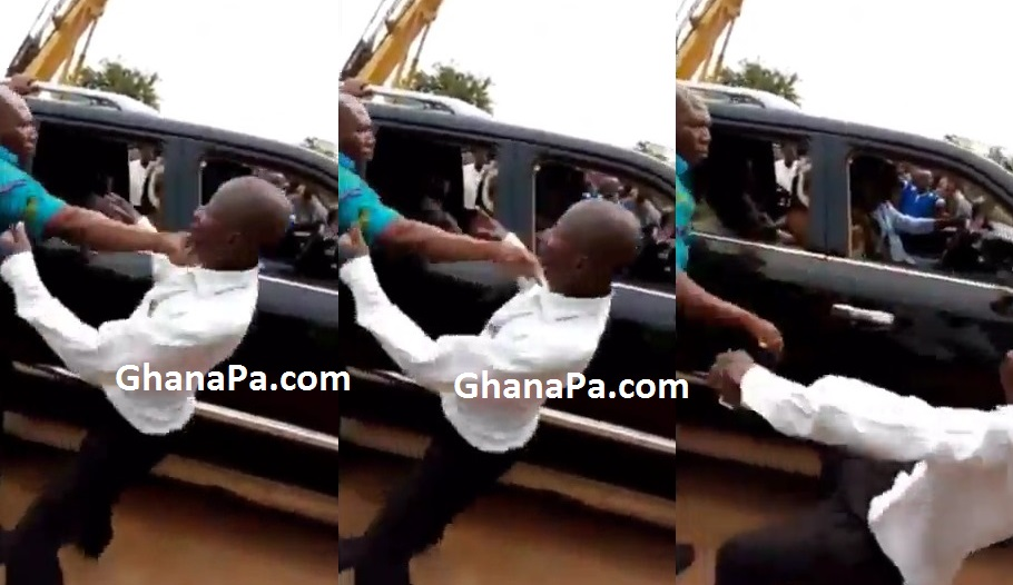 President Akufo-Addo's bodyguard punches old man for protocol breach