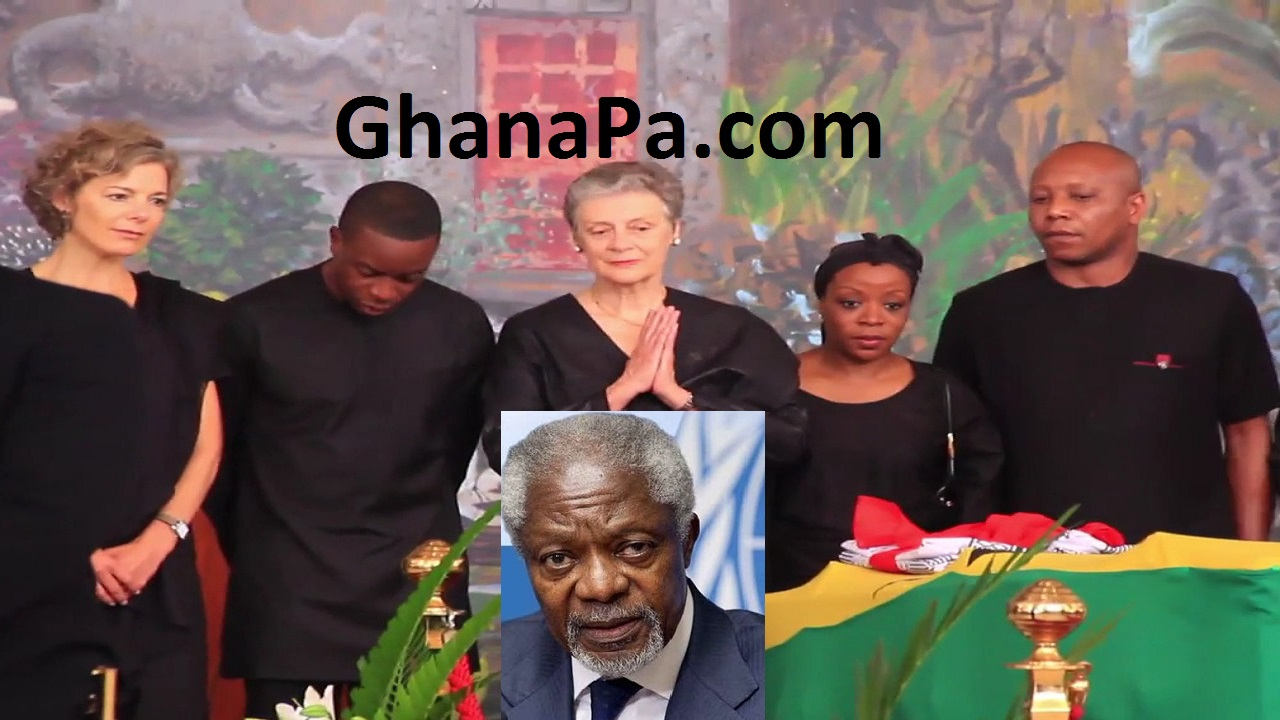 Late Former UN Secretary-General, Kofi Annan's wife Nane Lagergren & dignitaries pay last respect in Ghana