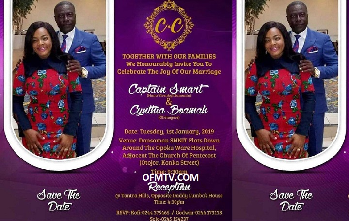 Adom FM's Captain Smart to wed new USA girlfriend Cynthia on 1st Jan 2019