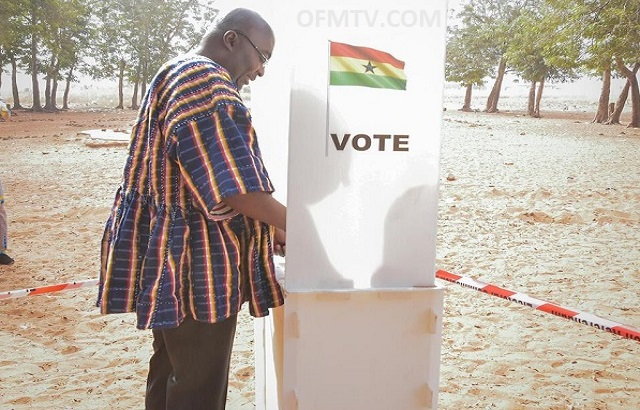 Vice President Dr. Mahamadu Bawumia also cast his ballot at Walewale