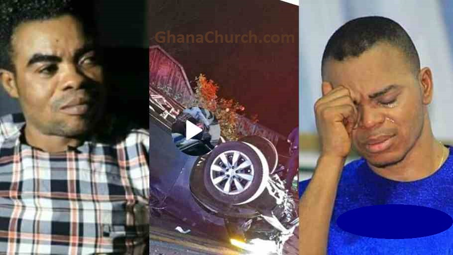 Angel Obinim's Pastor One Blow involved in serious accident; car somersaults on Tema Motorway [Video]