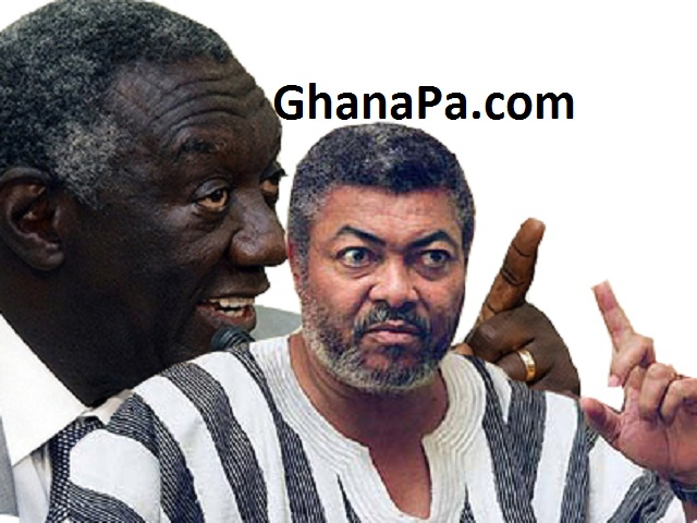 A 'hypocrite' like you must shut up about integrity - Kufuor to Rawlings