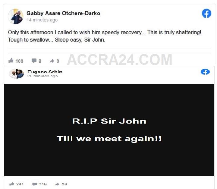 Confirmation Of Sir John's Death